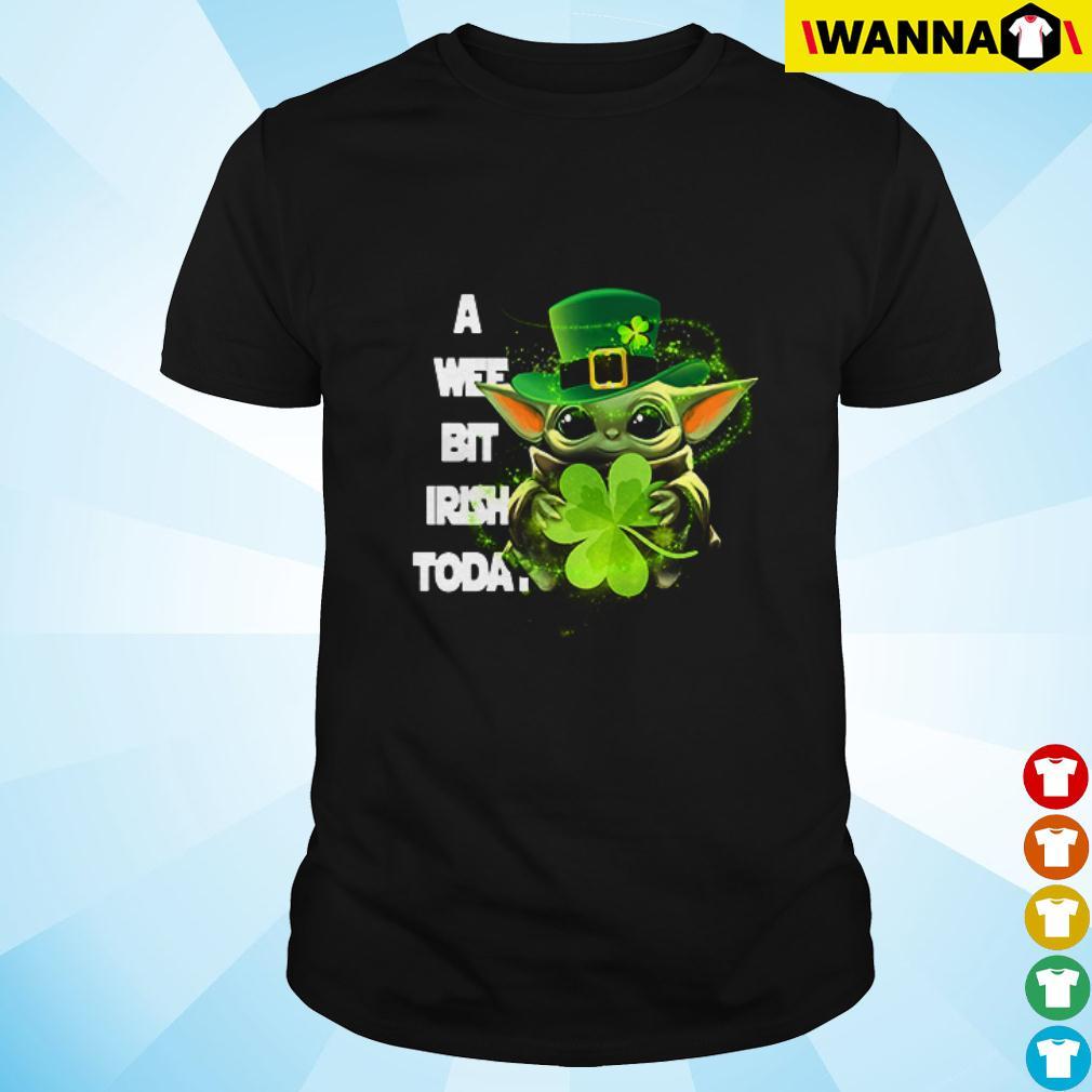 Baby Yoda a wee bit Irish today St. Patrick's day shirt