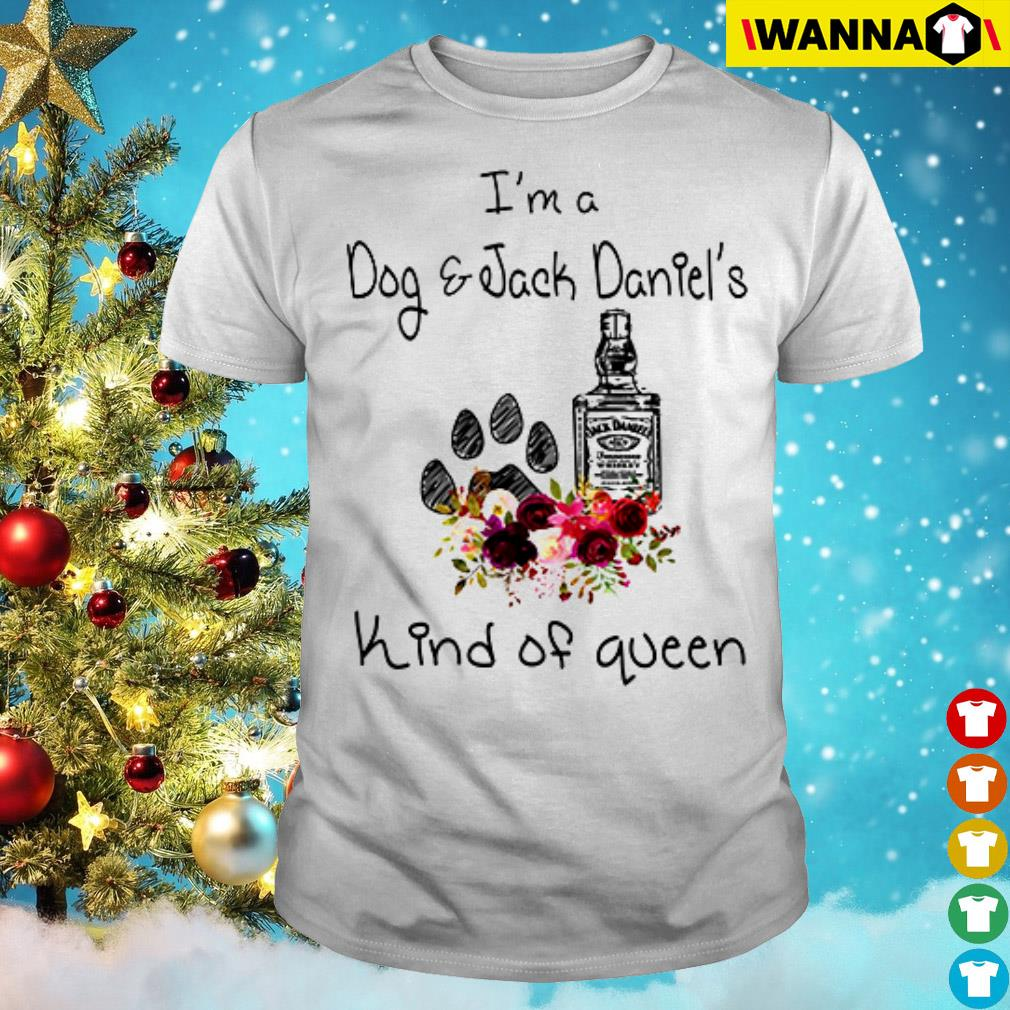 I'm a dog and Jack Daniel's kind of Queen floral shirt