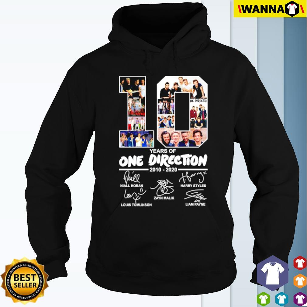 10 Years of One Direction 2010-2020 all members signatures s Hoodie
