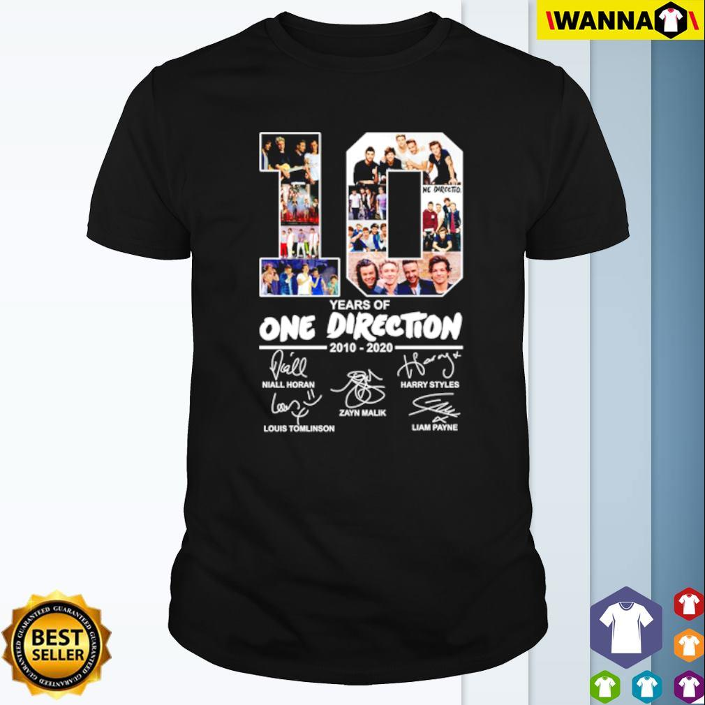 10 Years of One Direction 2010-2020 all members signatures shirt