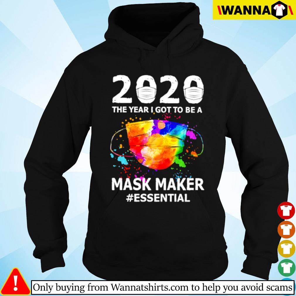 2020 The year I got to be a mask maker #essential Coronavirus s hoodie black