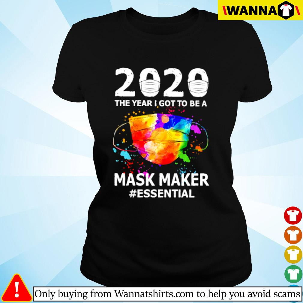 2020 The year I got to be a mask maker #essential Coronavirus s ladies-tee black