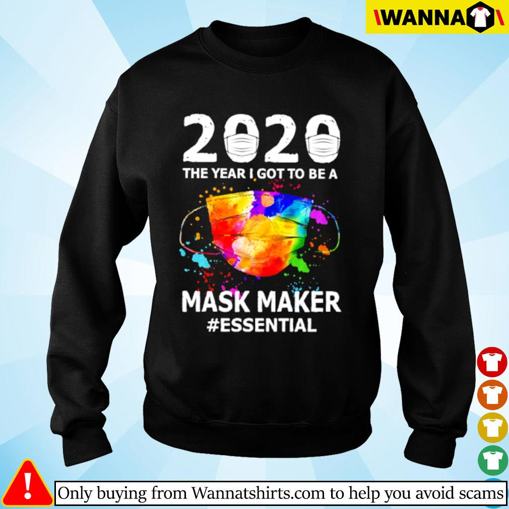 2020 The year I got to be a mask maker #essential Coronavirus s sweater black