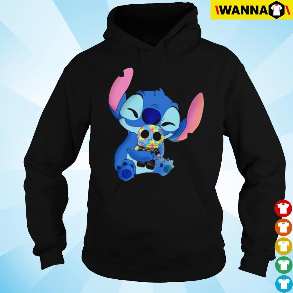 Stitch hug Jack Skellington Autism s hoodie