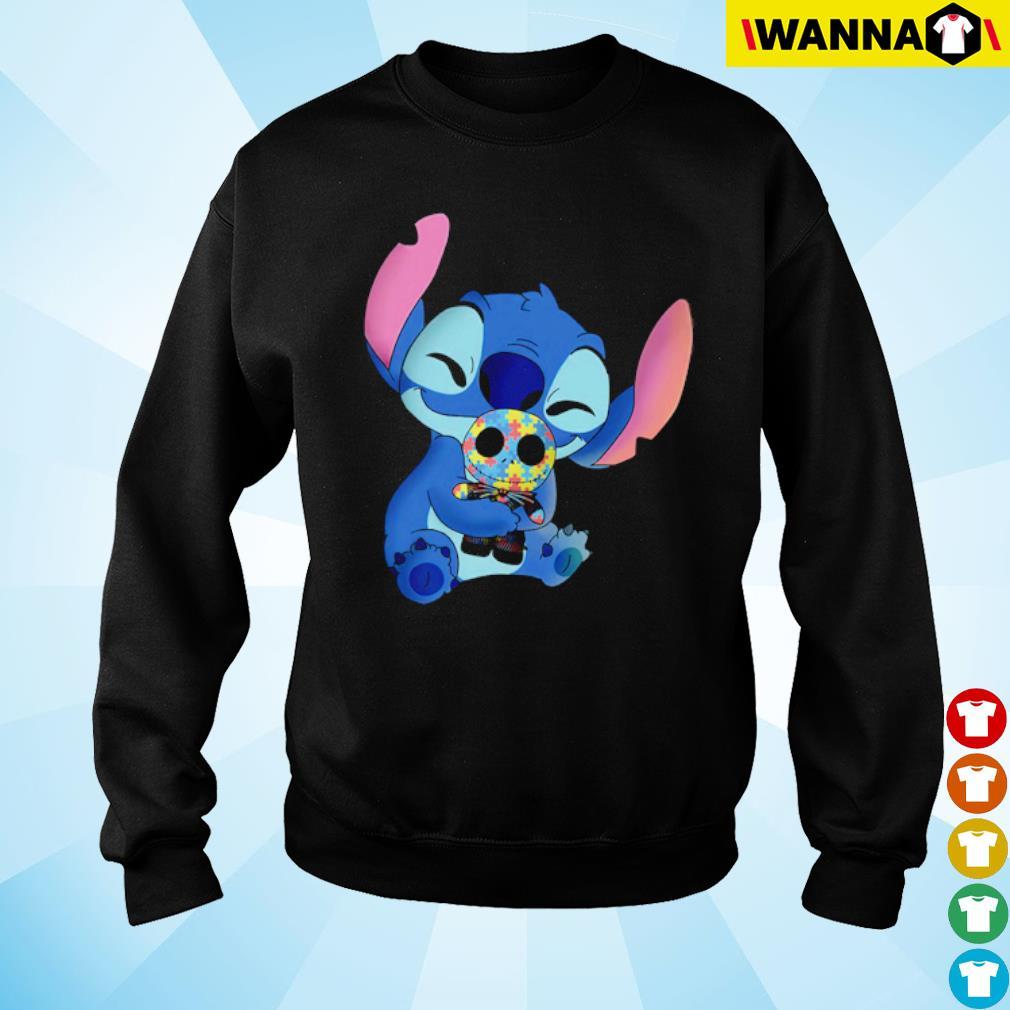 Stitch hug Jack Skellington Autism s sweater