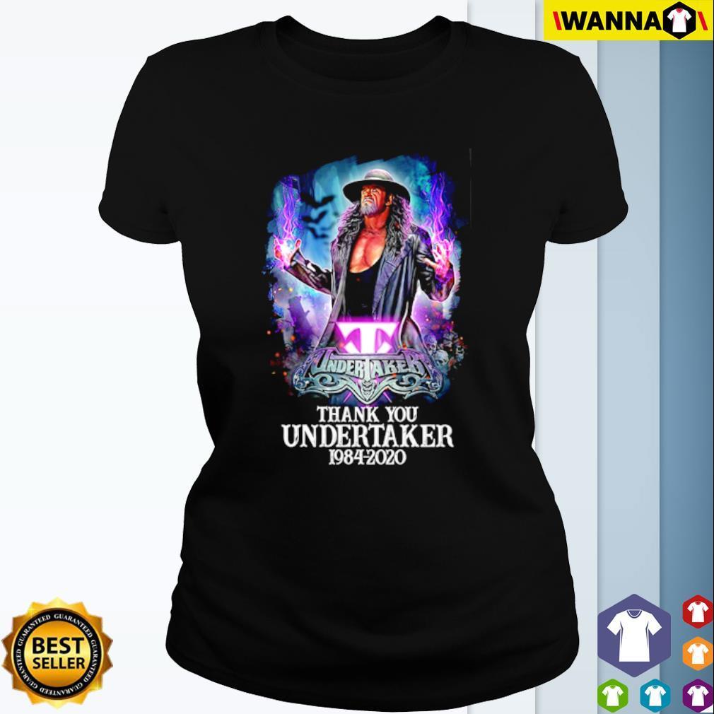 Thank you Undertaker 1984 – 2020 s Ladies Tee