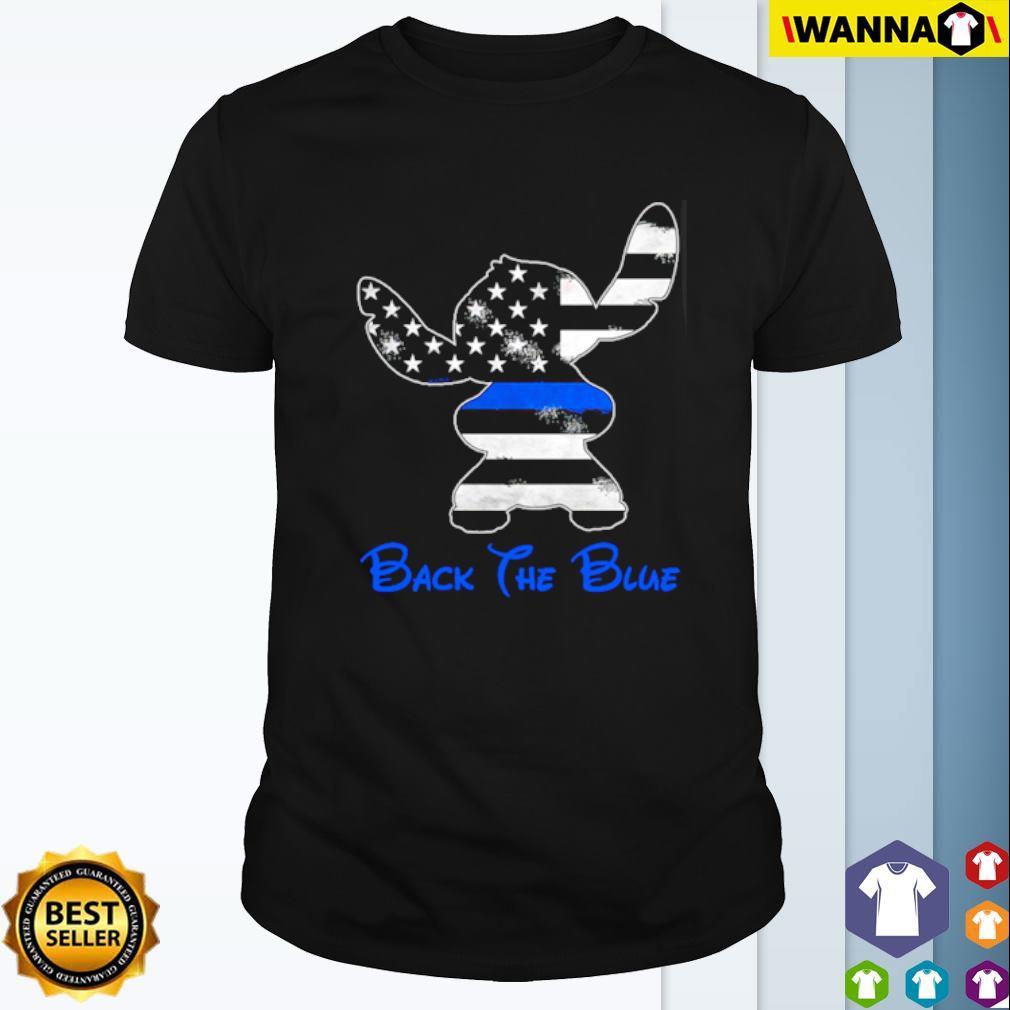 Thin Blue Line Stitch back the blue shirt