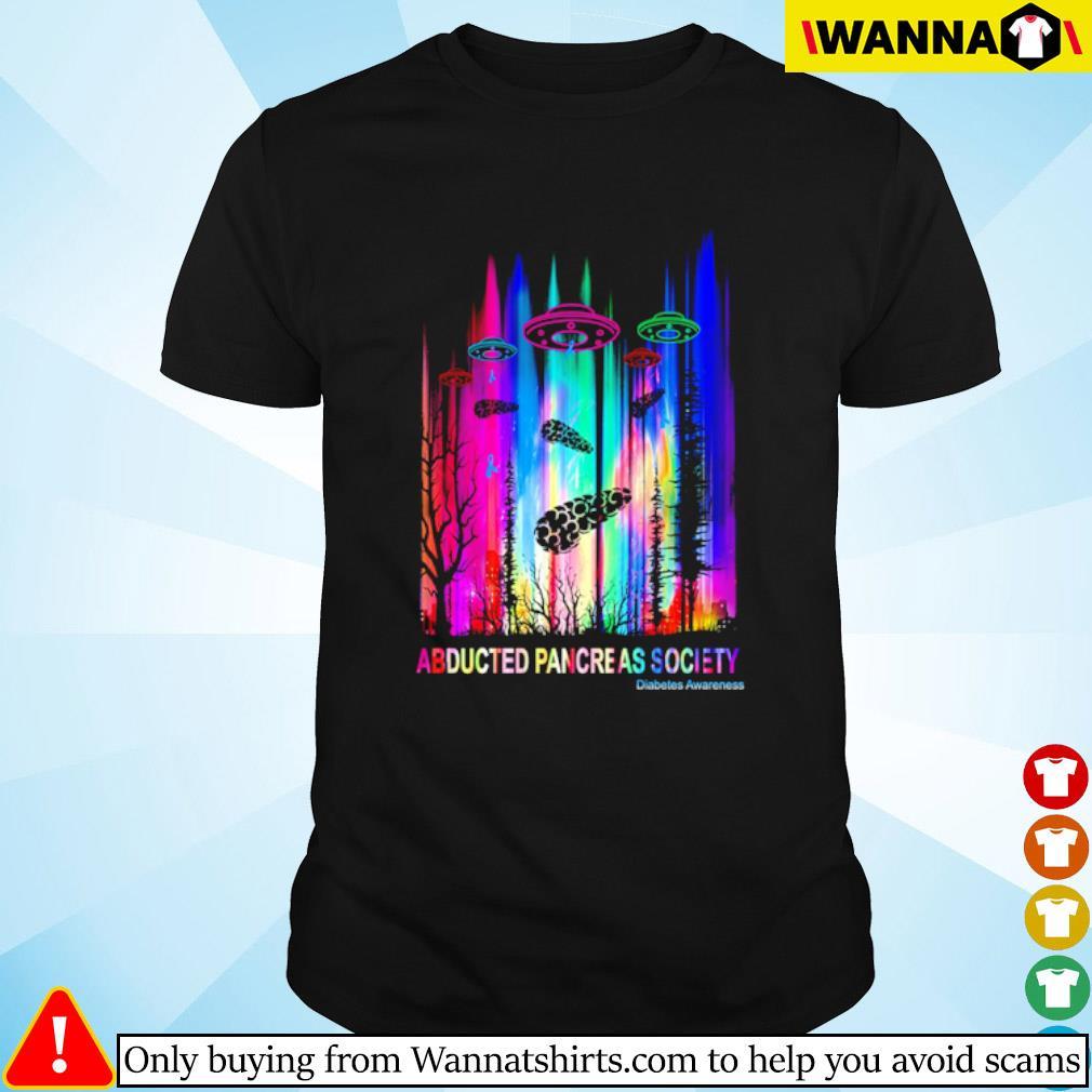 UFO Abducted pancreas society Diabetes Awareness shirt