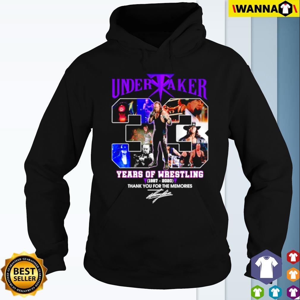 Undertaker 33 years of Wrestling 1987-2020 signature s Hoodie