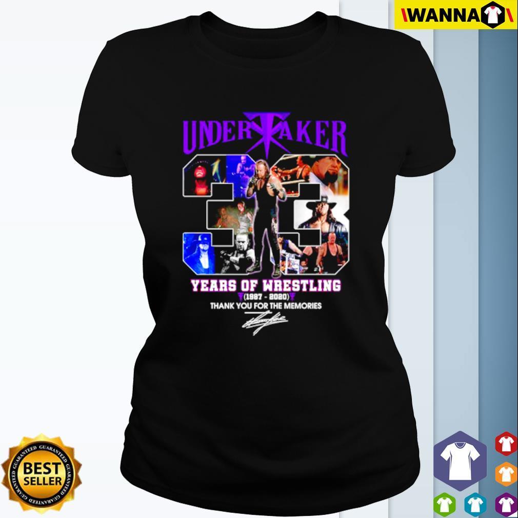 Undertaker 33 years of Wrestling 1987-2020 signature s Ladies Tee