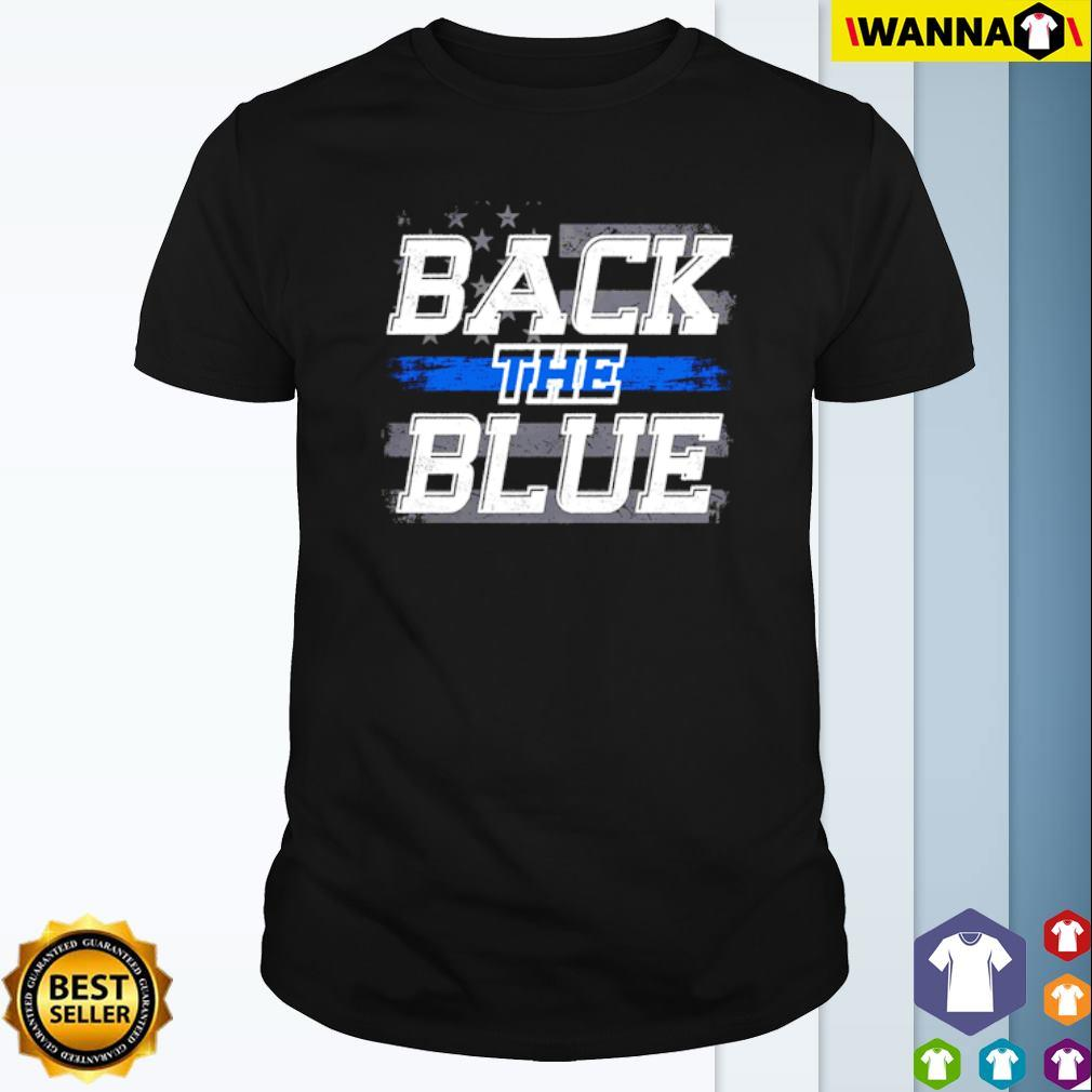 USA Flag Back the Blue shirt