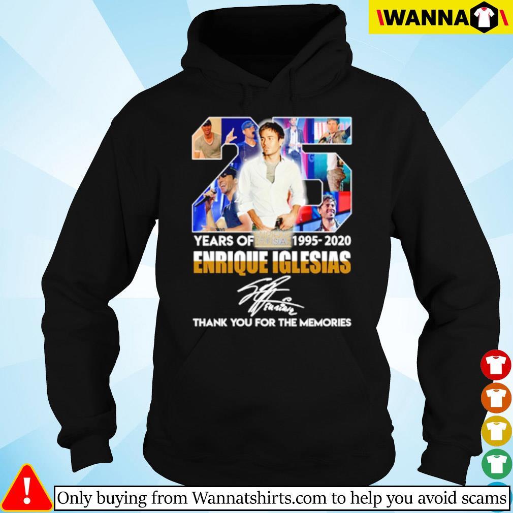 25 Years of Enrique Iglesias 1995-2020 signature s hoodie black