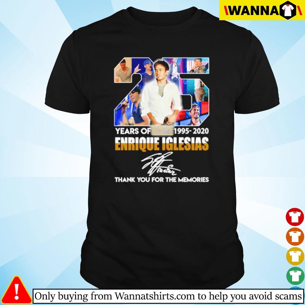 25 Years of Enrique Iglesias 1995-2020 signature shirt