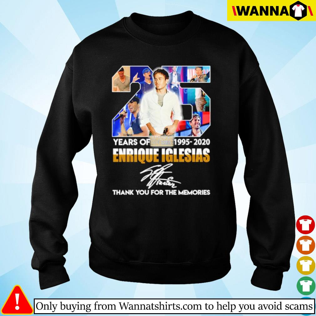 25 Years of Enrique Iglesias 1995-2020 signature s sweater black