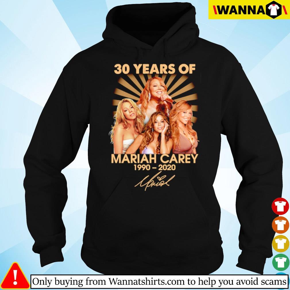 30 Years of Mariah Carey 1990-2020 signature s hoodie black