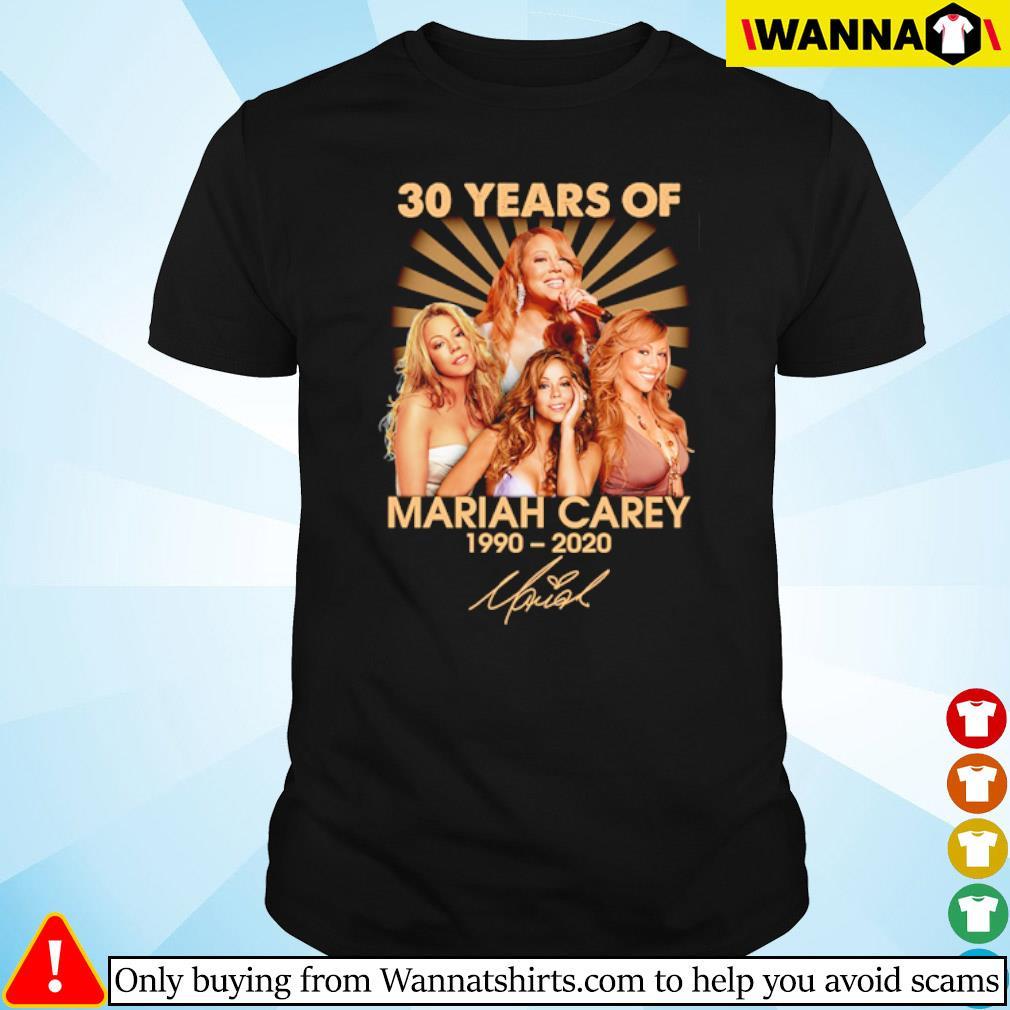 30 Years of Mariah Carey 1990-2020 signature shirt