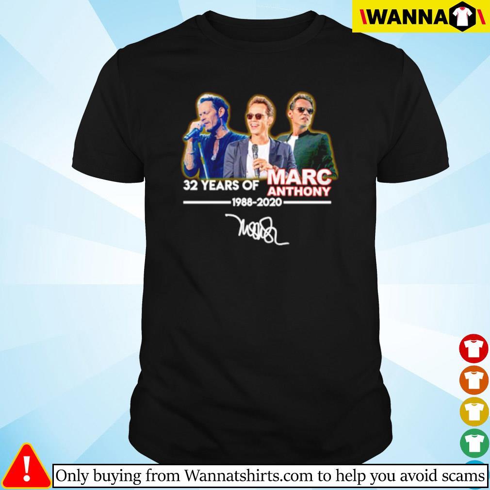 32 Years of Marc Anthony 1988-2020 signature shirt