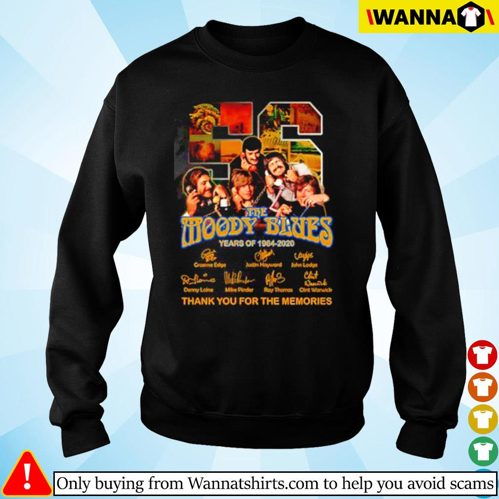 56 Years of The Moody Blues 1964-2020 all characters signatures s sweater black