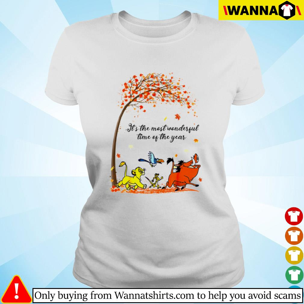Autumn Hakuna Matata it's the most wonderful time of the year s ladies-tee