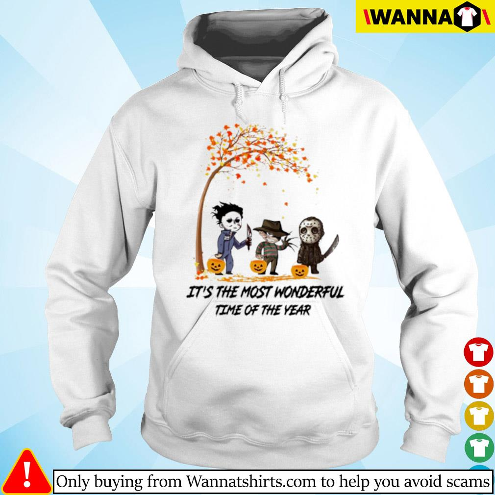 Autumn Horror characters Myers Krueger Jackson Voorhees it's the most wonderful time of the year s hoodie
