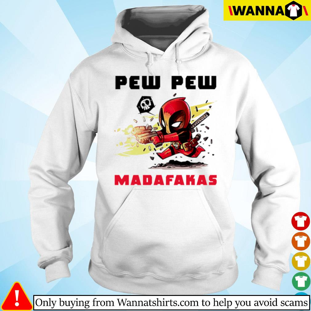 Deadpool hold guns pew pew madafakas s hoodie