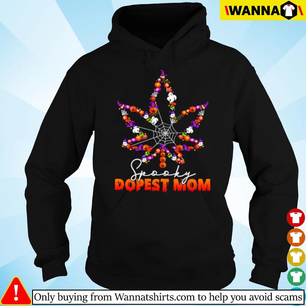 Halloween Cannabis spooky dopest mom s hoodie black