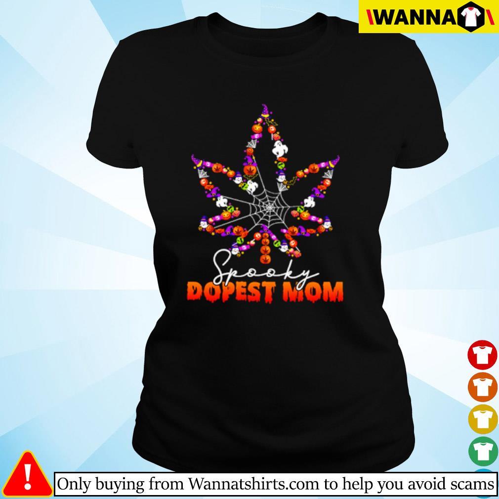 Halloween Cannabis spooky dopest mom s ladies-tee black