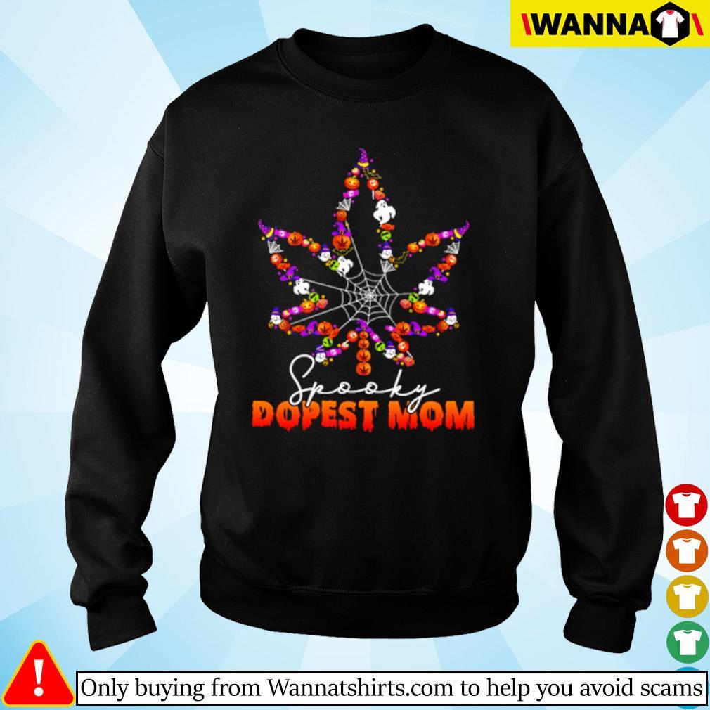 Halloween Cannabis spooky dopest mom s sweater black
