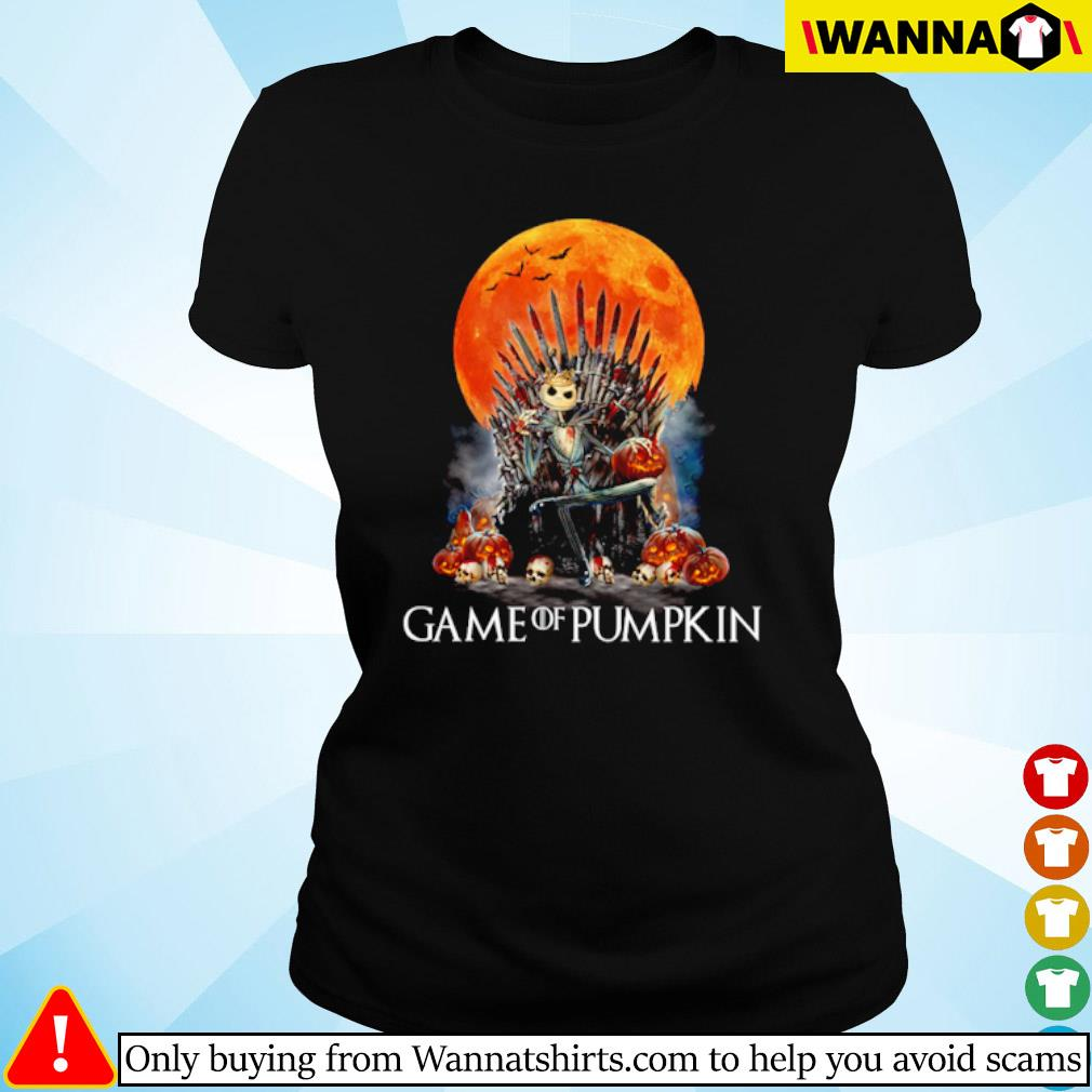 Jack Skellington Game of pumpkin blood moon s ladies-tee black