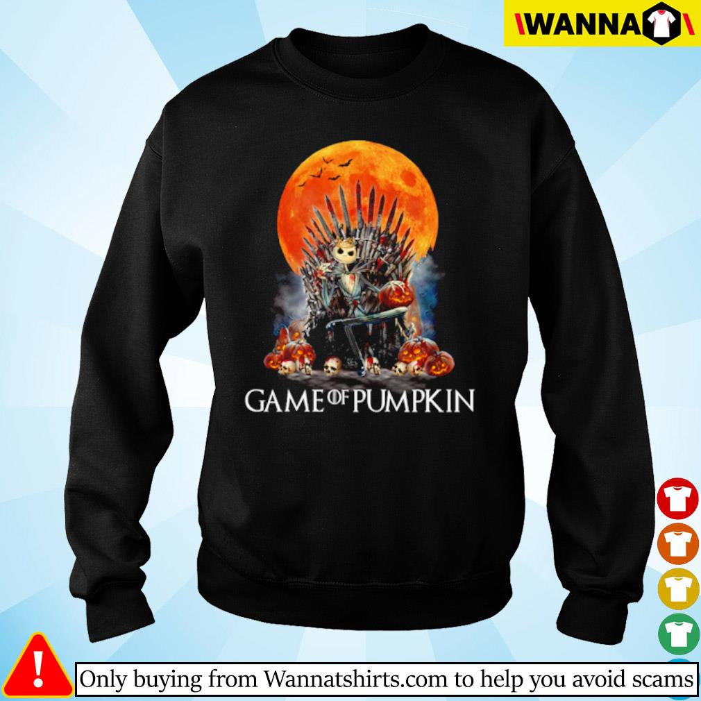 Jack Skellington Game of pumpkin blood moon s sweater black
