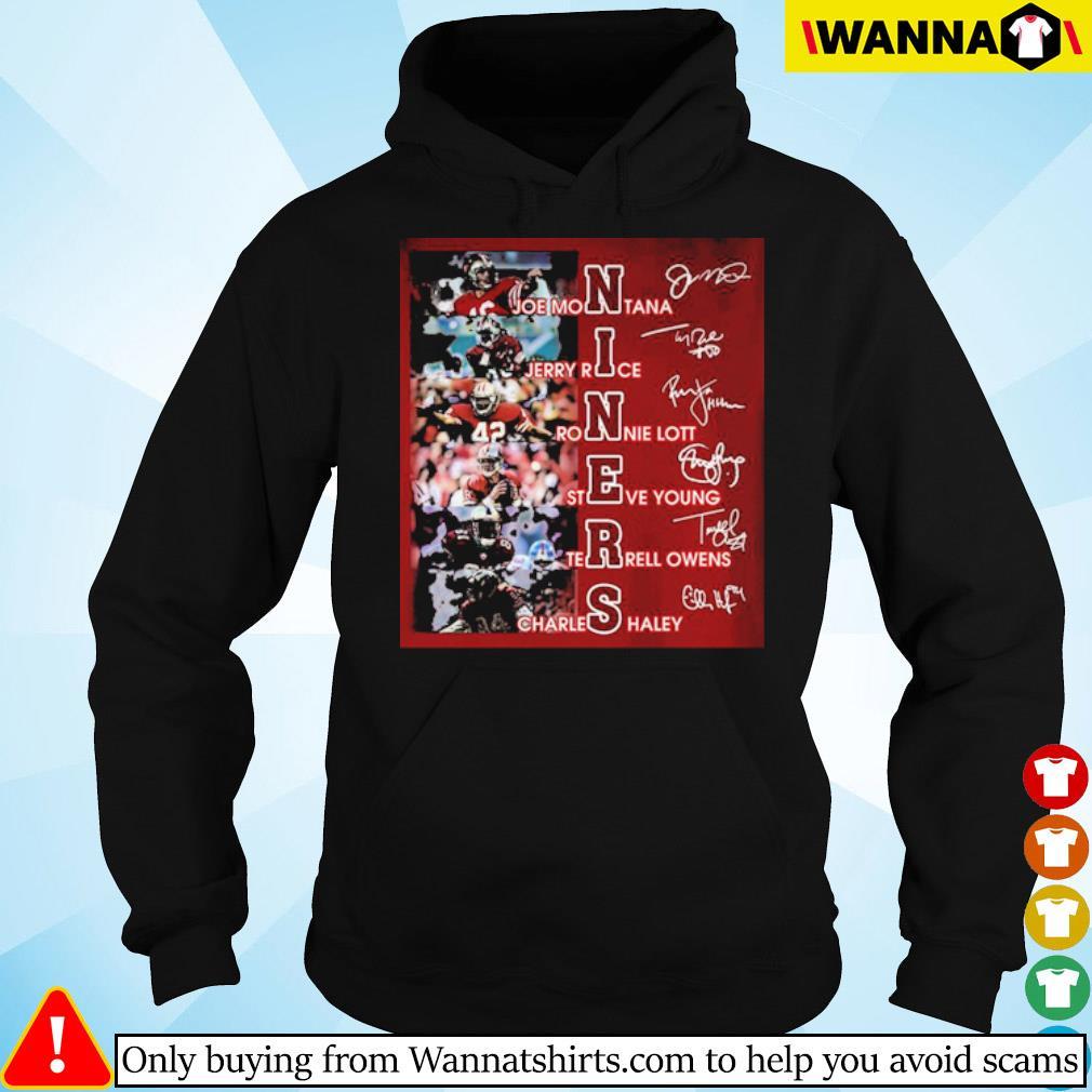Niners team players signatures s hoodie black