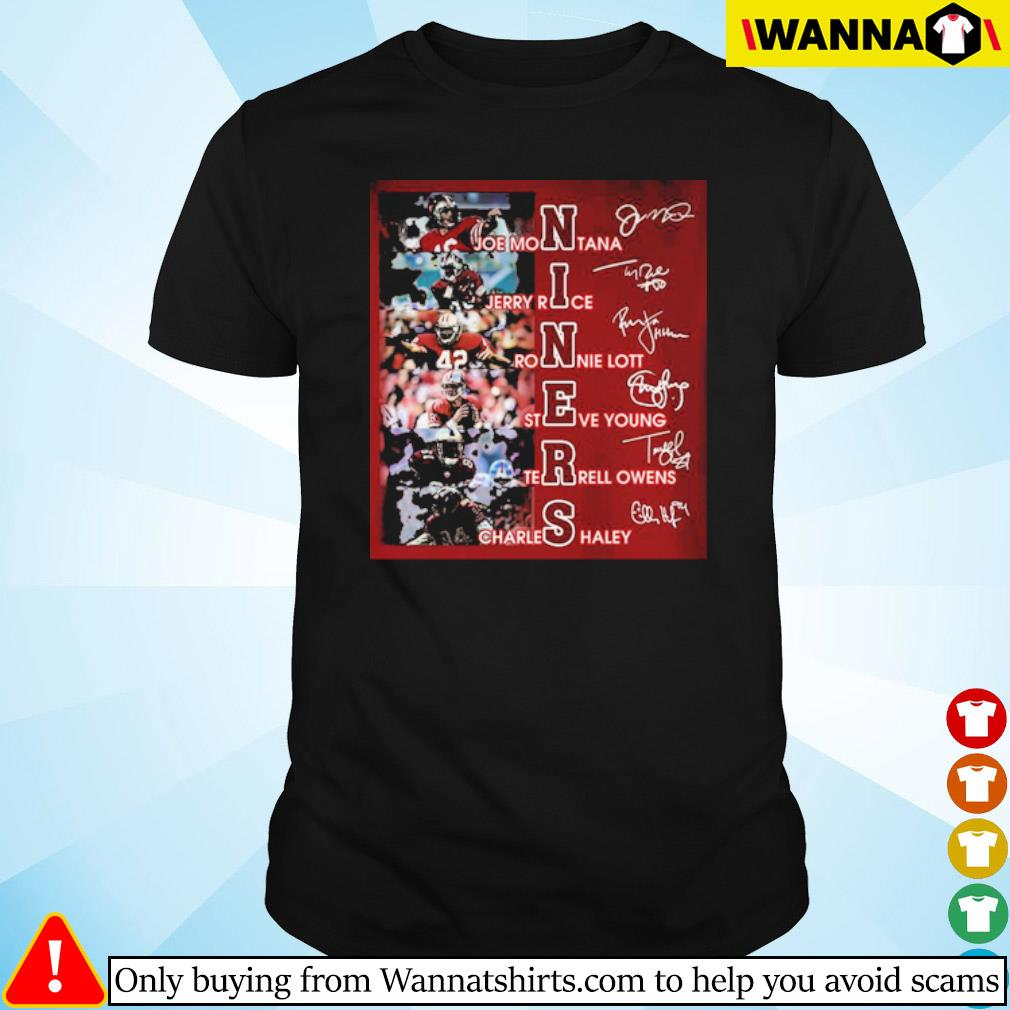 Niners team players signatures shirt
