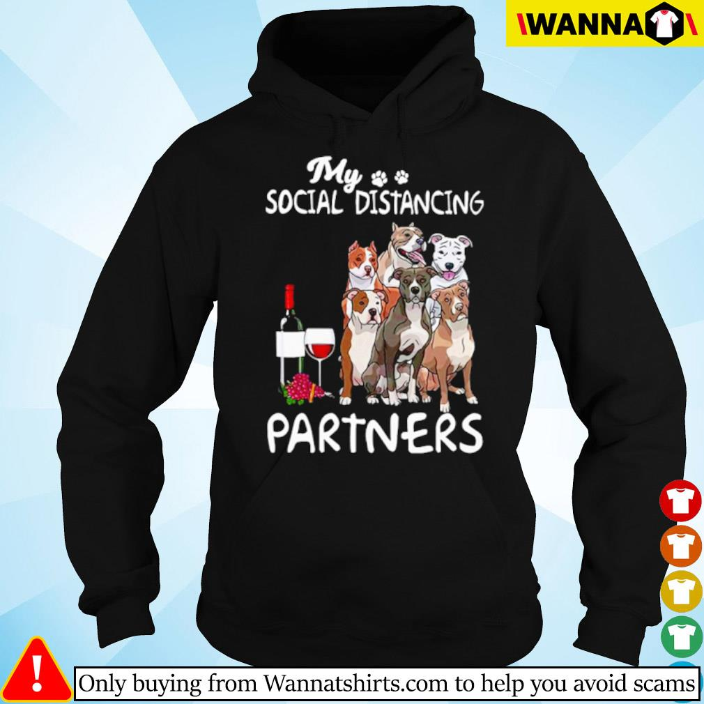 Pitbull my social distancing partners s hoodie black