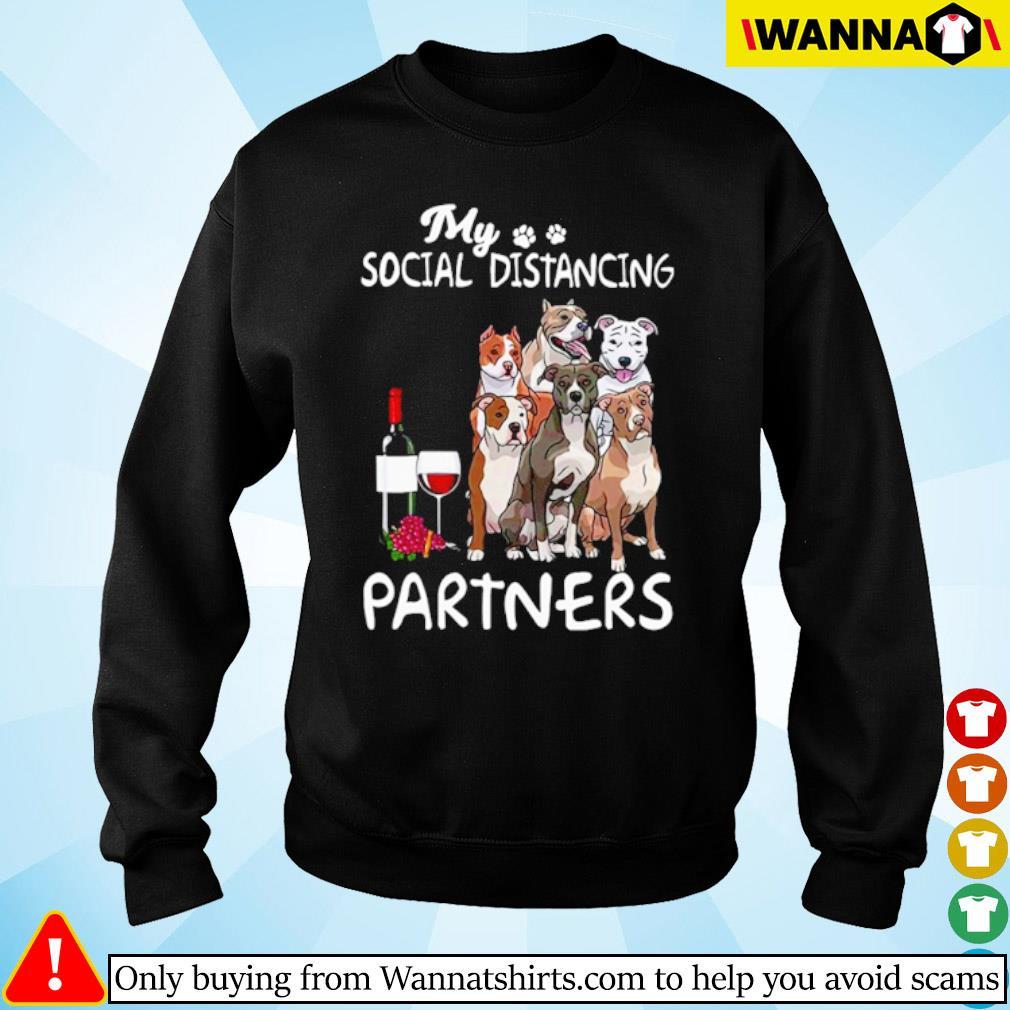 Pitbull my social distancing partners s sweater black