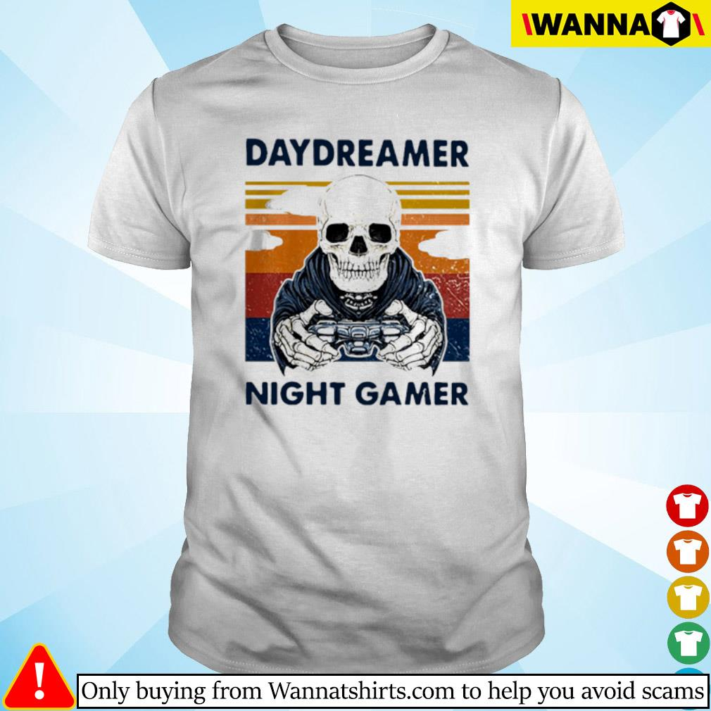Skull Daydreamer Night Gamer vintage shirt