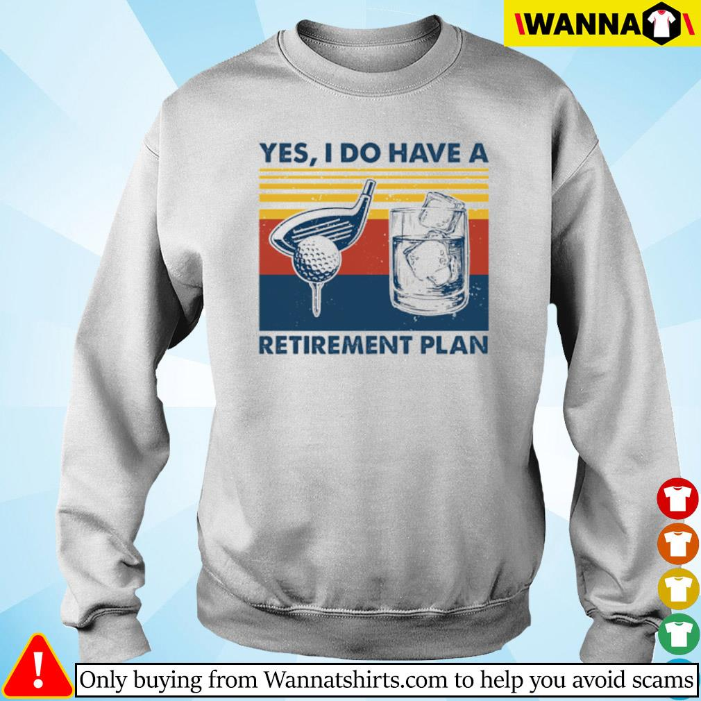 Vintage Golf yes I do have a Retirement Plan s sweater