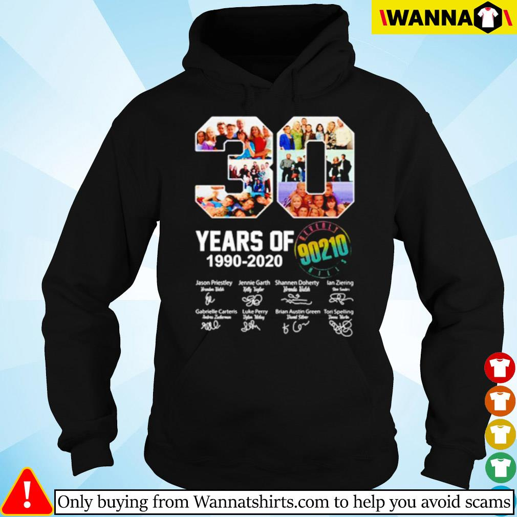 30 Years of Beverly Hills 1990-2020 all characters signatures s hoodie black