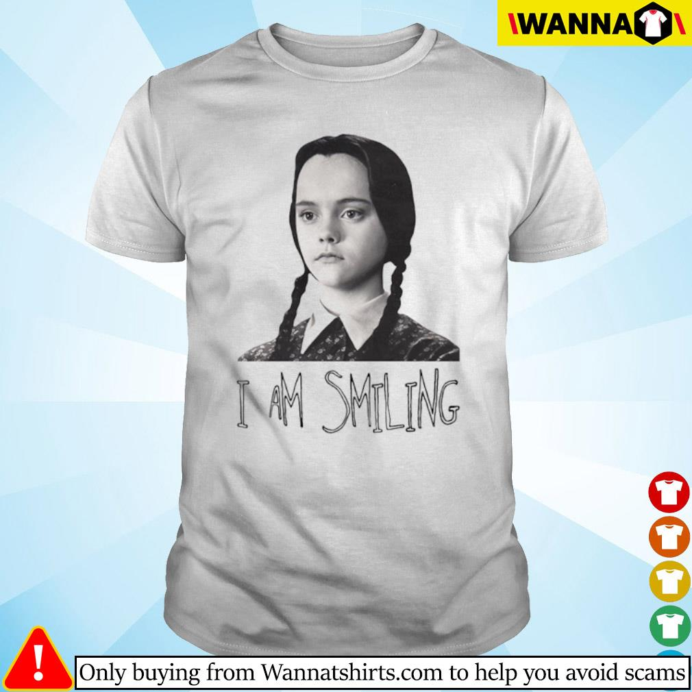 Wednesday Addams Fictional character I am smiling shirt