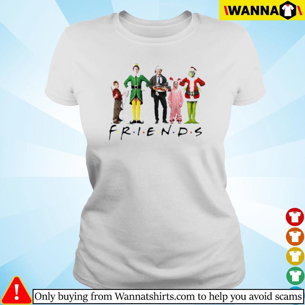 Christmas Grinch Kevin Friends Characters Elf sweater Ladies tee