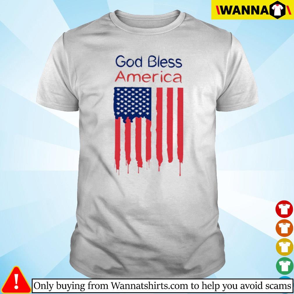 God bless America flag shirt