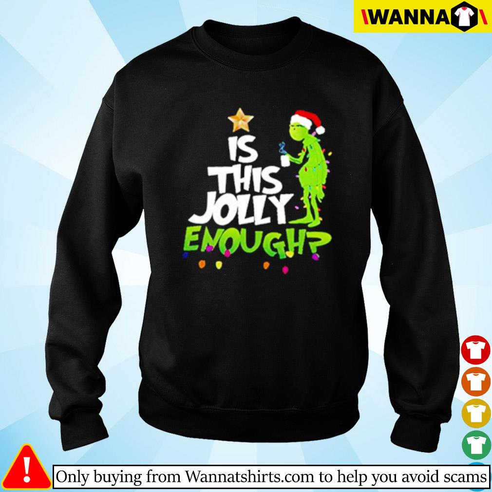 Grinch Santa hat is this Jolly enough Christmas sweater