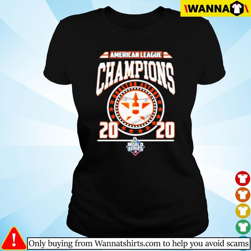 Houston Astros American league Champions 2020 world series s Ladies tee