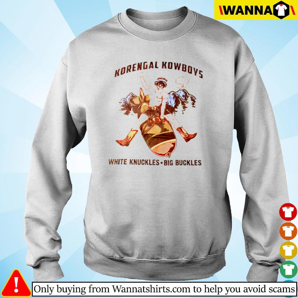 Korengal Kowboys white knuckles big buckles s Sweater