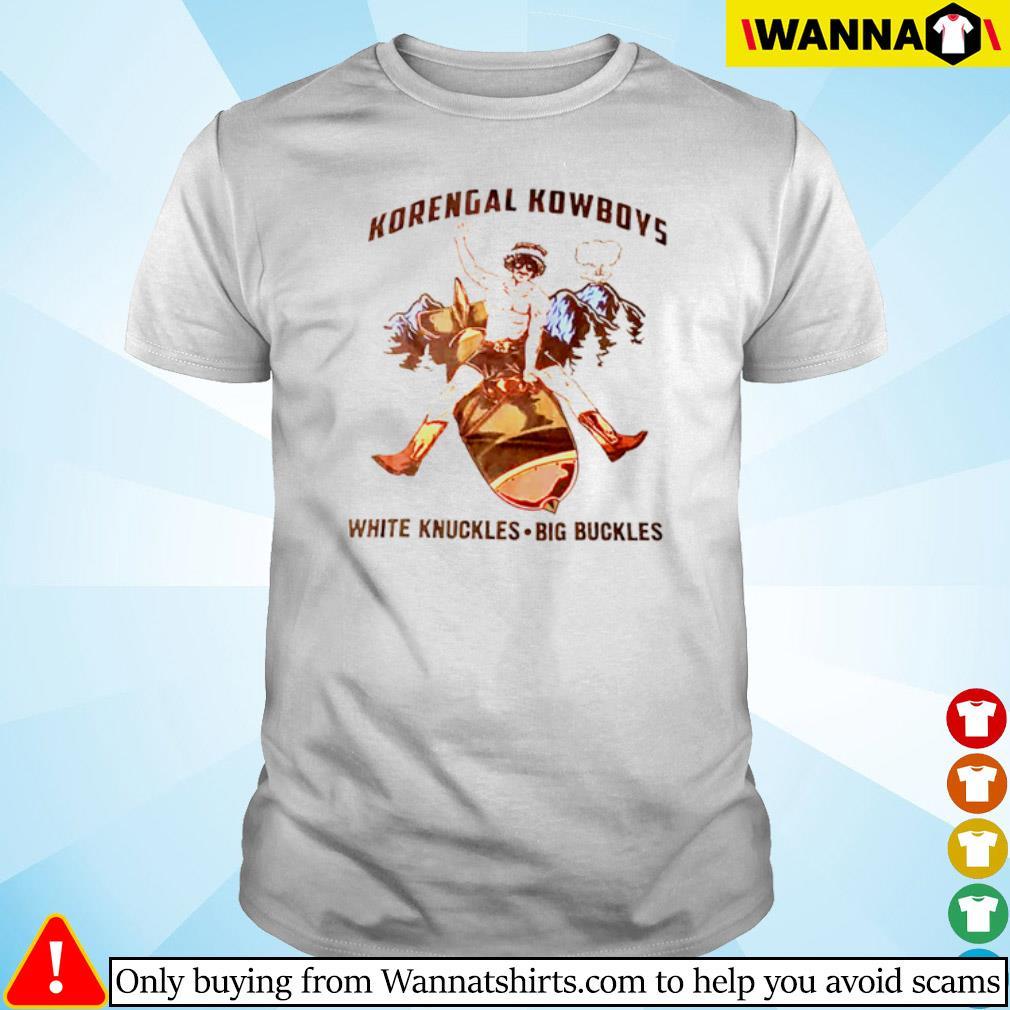 Korengal Kowboys white knuckles big buckles shirt