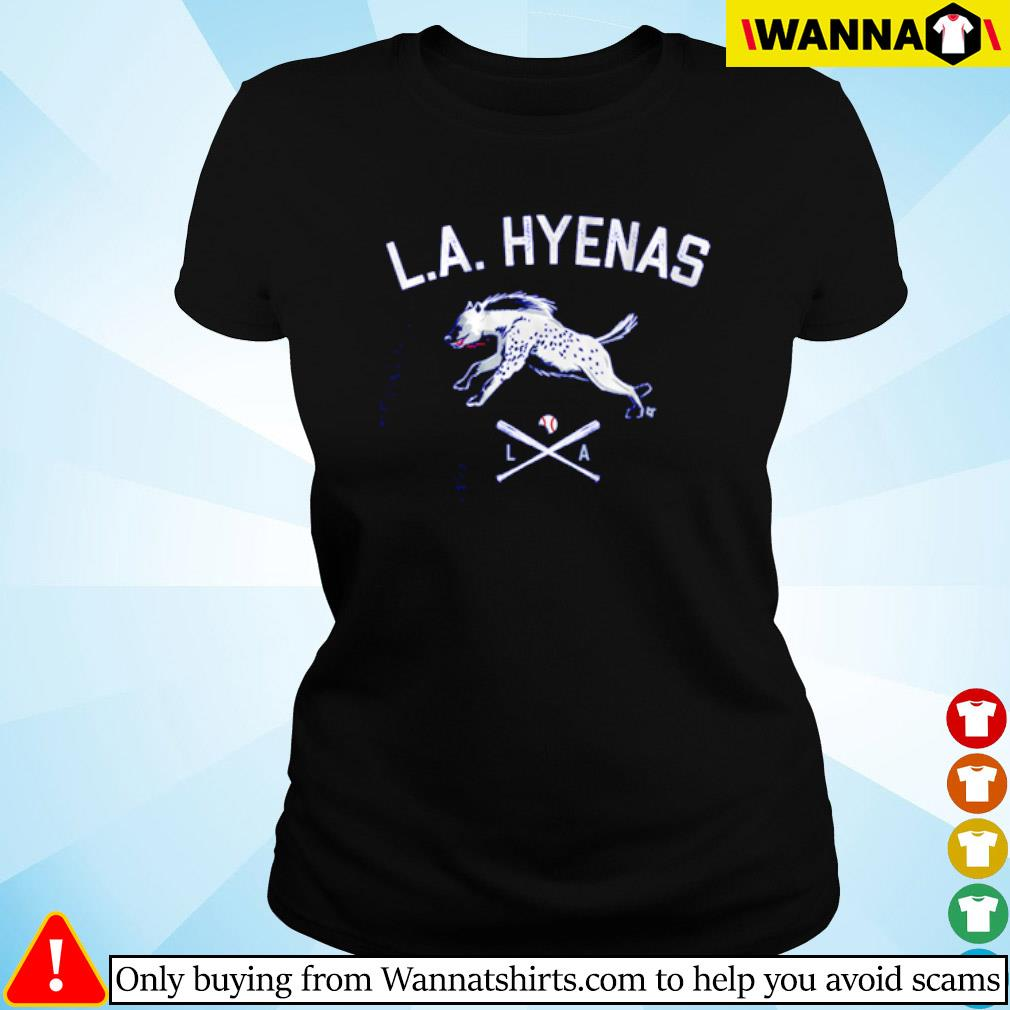 Los Angeles baseball L.A Hyenas s Ladies tee