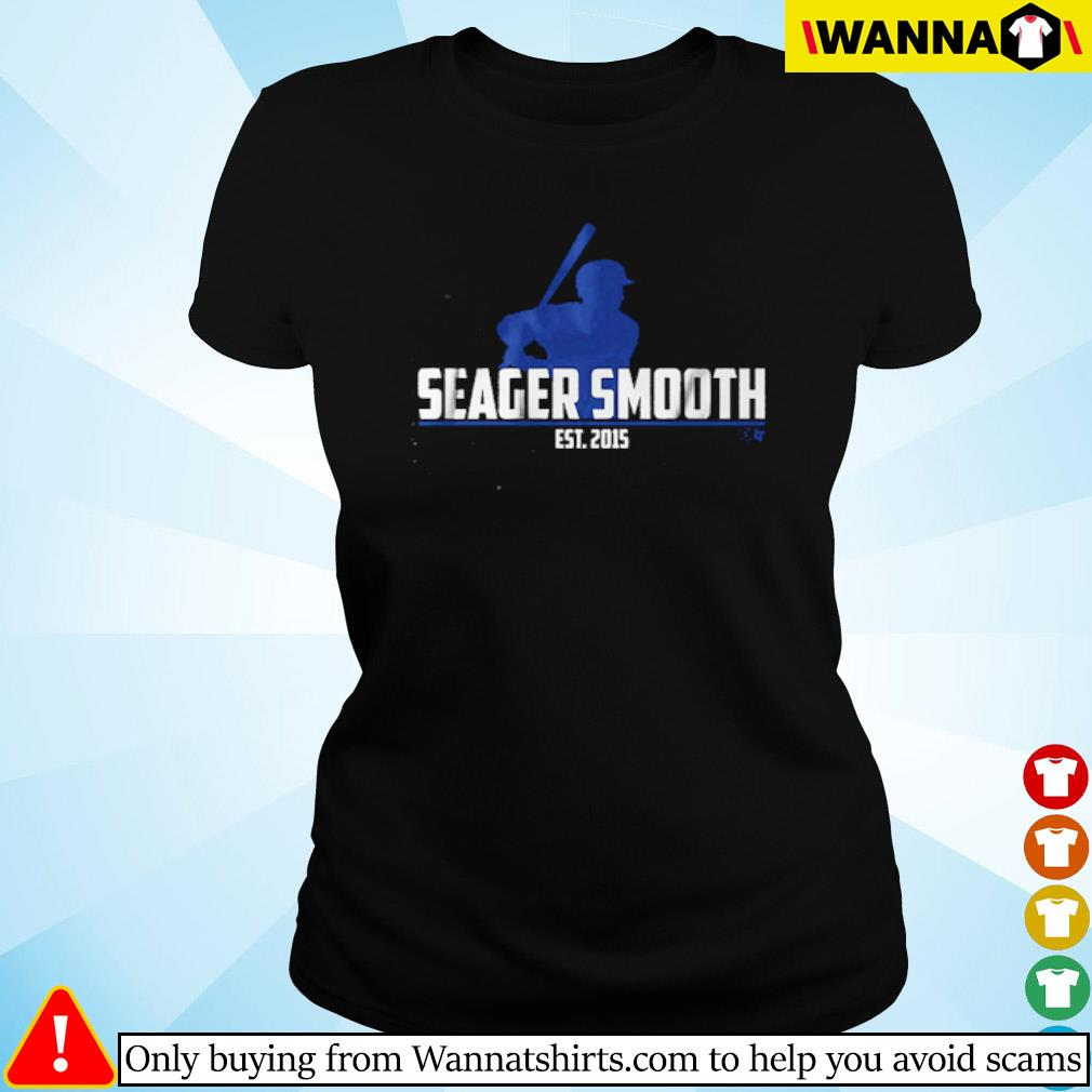 Los Angeles Dodgers Seager Smooth Est.2015 s Ladies tee