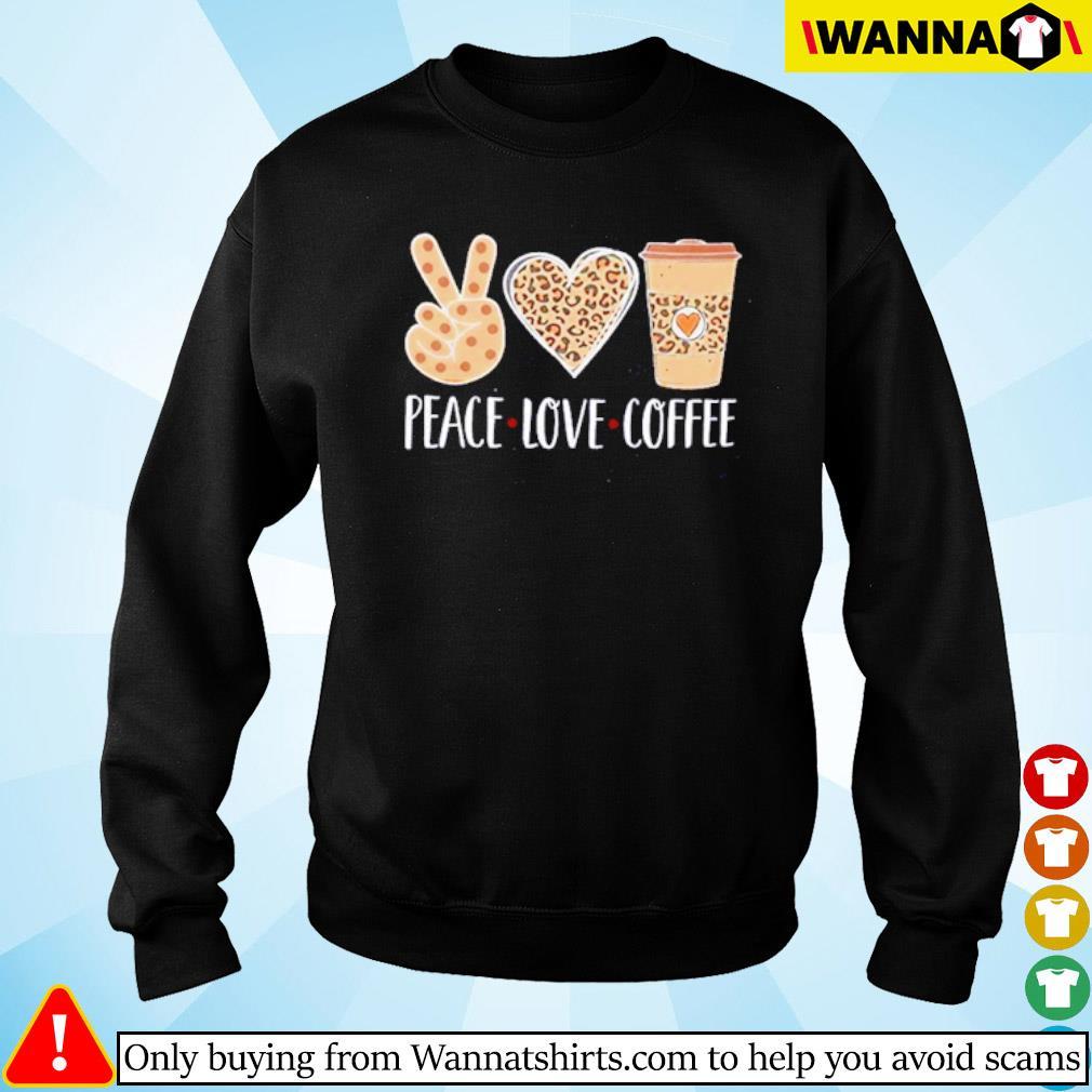 Peace love coffee leopard s Sweater