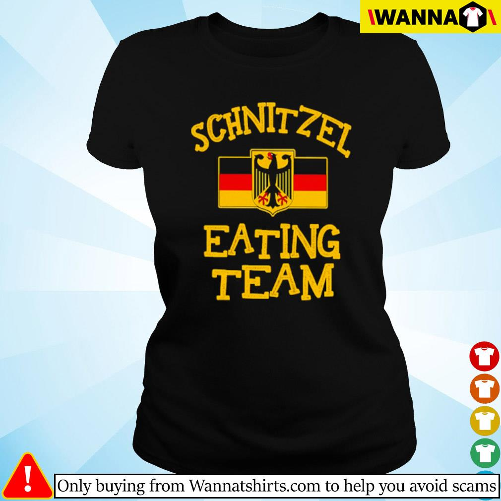 Schnitzel eating team s Ladies tee