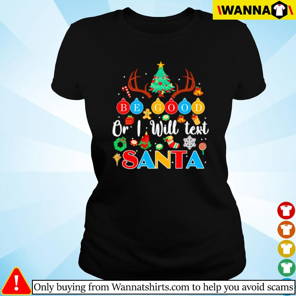 Teacher or I will test Santa Christmas sweater Ladies tee