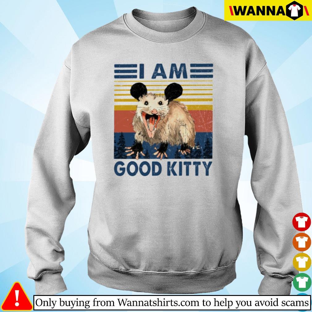 Vintage Opossum I am good kitty s Sweater